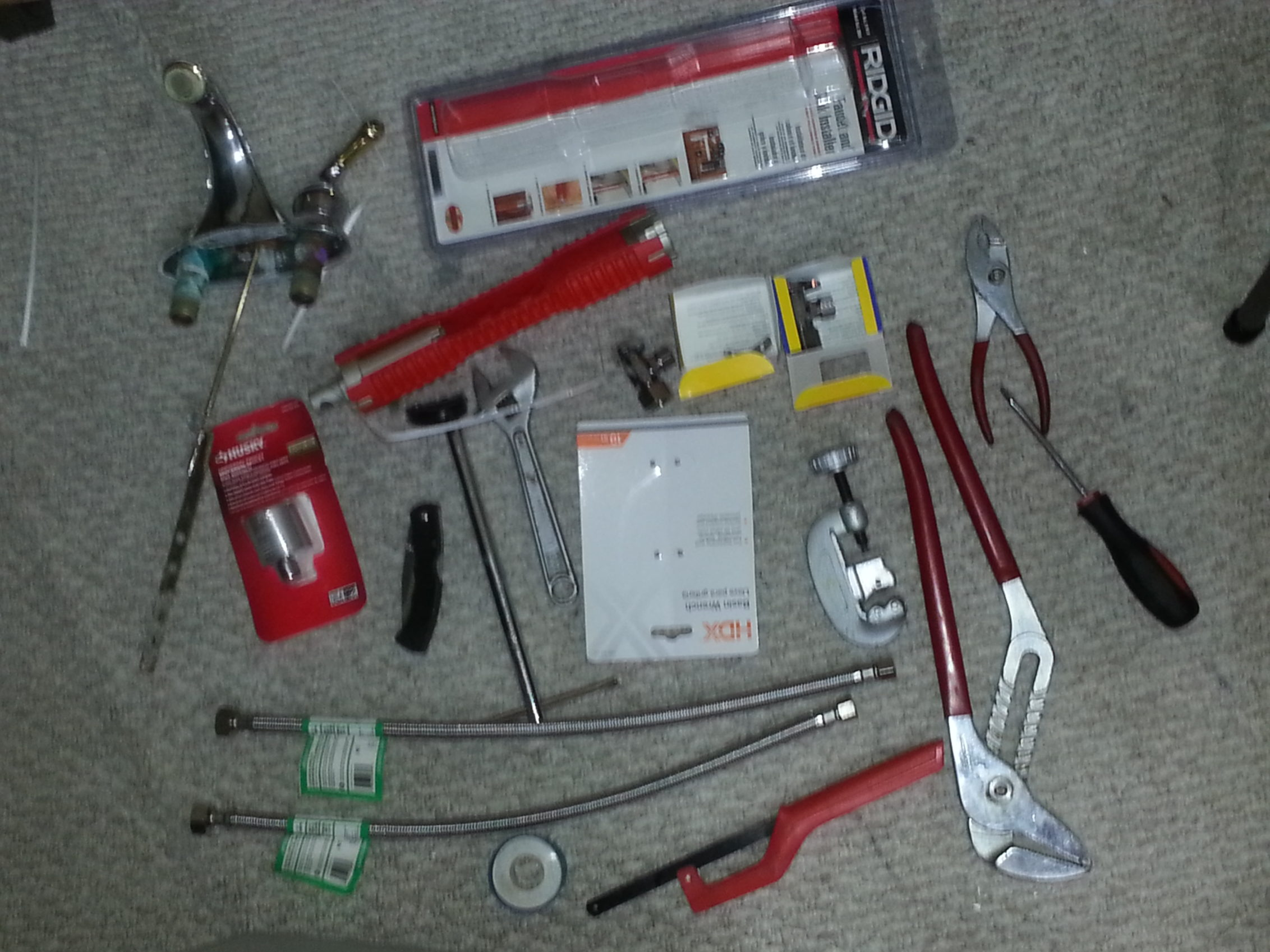 Sink/Facet Repair Tools