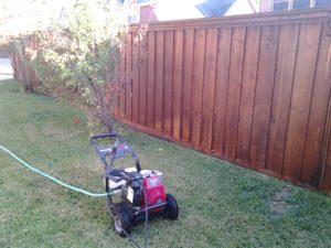 Power Wash Fence