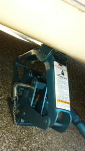 Tire Jack Placement Secure Pin