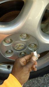 Flat Tire Lug Nut Key