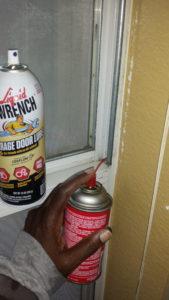 Spray Both Sides of Window Vertical Rails